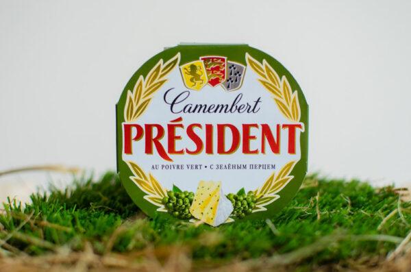Сыр Камамбер с белой плесенью и зеленым перцем 45%