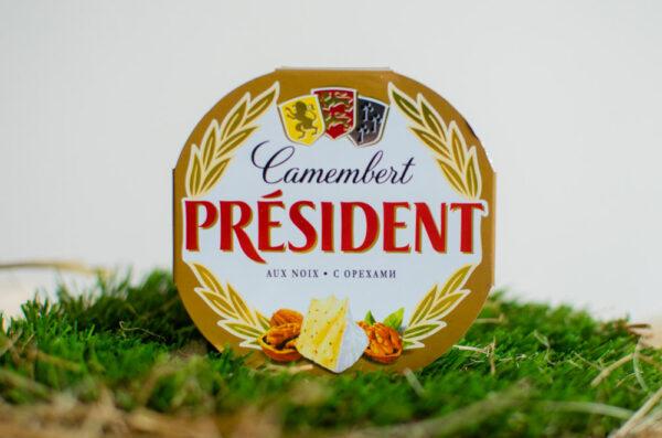 Сыр Камамбер с белой плесенью с орехом 45%