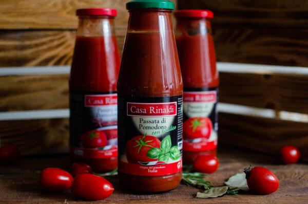 Пюре Casa Rinaldi томатное с базиликом